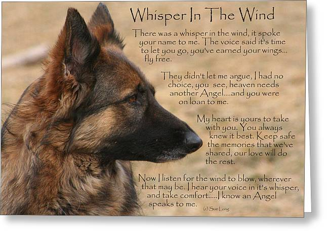 Recently Sold -  - Best Friend Greeting Cards - Whisper In The Wind Greeting Card by Sue Long