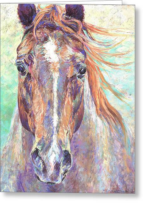 Michelle Pastels Greeting Cards - Whisper of a Dream Greeting Card by Michelle Bostock