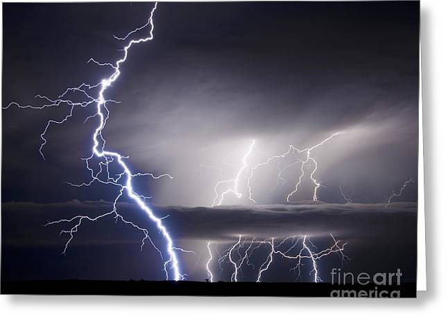 Lightning Photographer Greeting Cards - Whisper To The Thunder Greeting Card by Ryan Smith