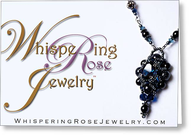 Sapphire Jewelry Greeting Cards - Whispering Rose Jewelry Logo Greeting Card by WDM Gallery