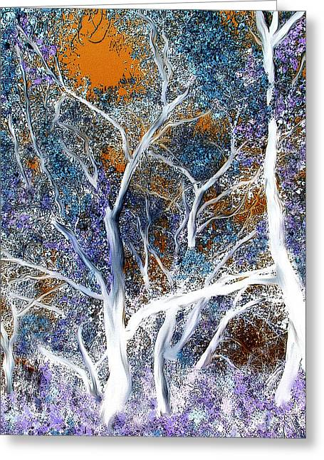Ghostly Greeting Cards - Whispering Shadows Greeting Card by Lisa S Baker