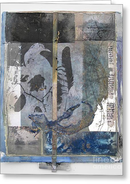 Hand Pulled Print Greeting Cards - Whispers of the Positive Greeting Card by Wen Redmond