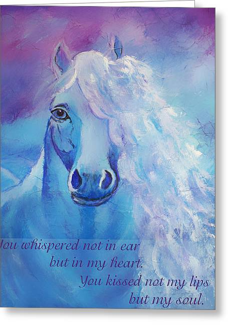 The Art With A Heart Greeting Cards - Whispers To My Heart Greeting Card by The Art With A Heart By Charlotte Phillips