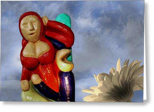Canada Sculptures Greeting Cards - Whistle Blower Greeting Card by Barbara St Jean