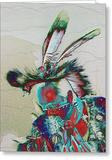 Pow Wow Greeting Cards - Whistle Blower Greeting Card by Kae Cheatham