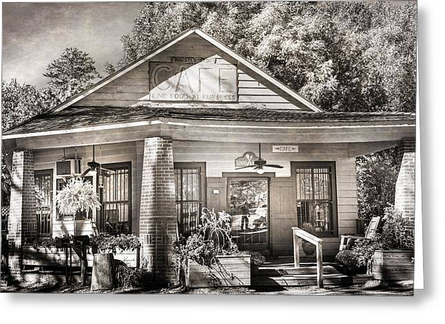 Whistle Stop Cafe II Greeting Card by Mark Andrew Thomas