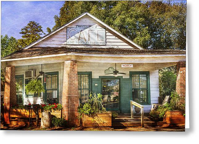 Whistle Stop Cafe Greeting Card by Mark Andrew Thomas