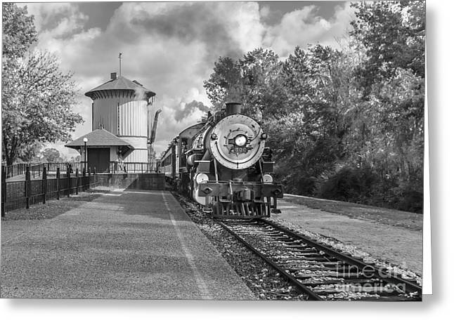 Oil Burner Greeting Cards - Whistle Stop Greeting Card by Robert Frederick