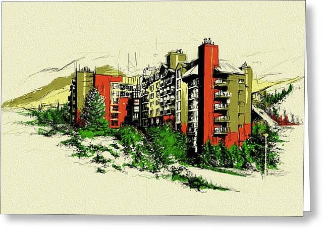 British Columbia Greeting Cards - Whistler Art 004 Greeting Card by Catf