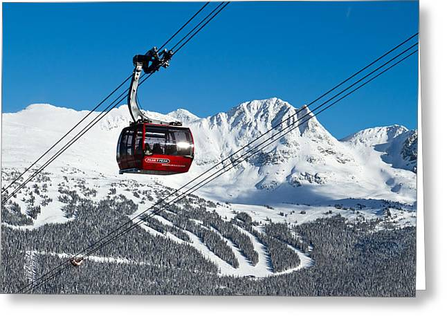 Winter Olympics Greeting Cards - Whistler Blackcomb Peak to Peak Greeting Card by Pierre Leclerc Photography