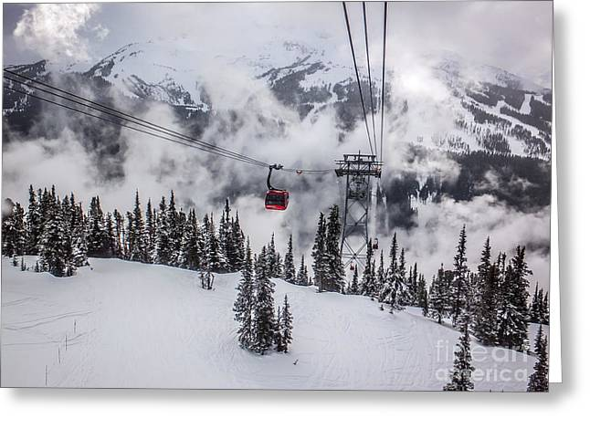 Ski Art Greeting Cards - Whistler Blackcomb Weather Greeting Card by Alanna Dumonceaux