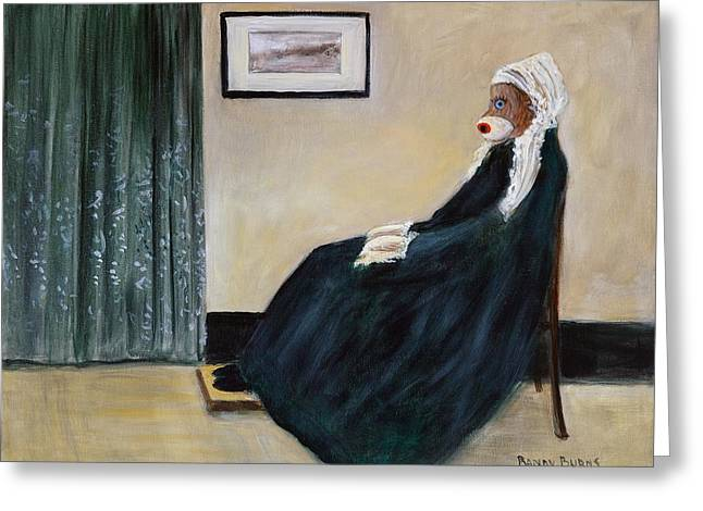 Whistlin Mother Greeting Card by Randol Burns