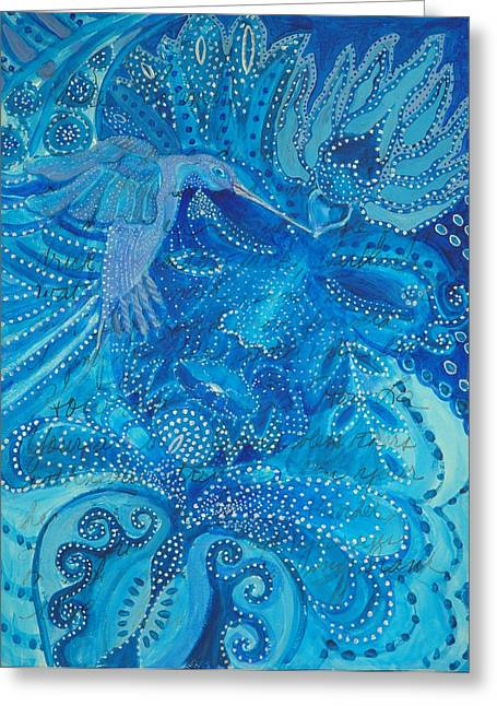 Constellations Greeting Cards - Whistling Shen Greeting Card by Rosemary Allen