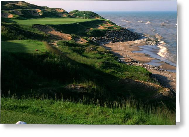 Golf Design Greeting Cards - Whistling Straits 7 Greeting Card by Ken  May