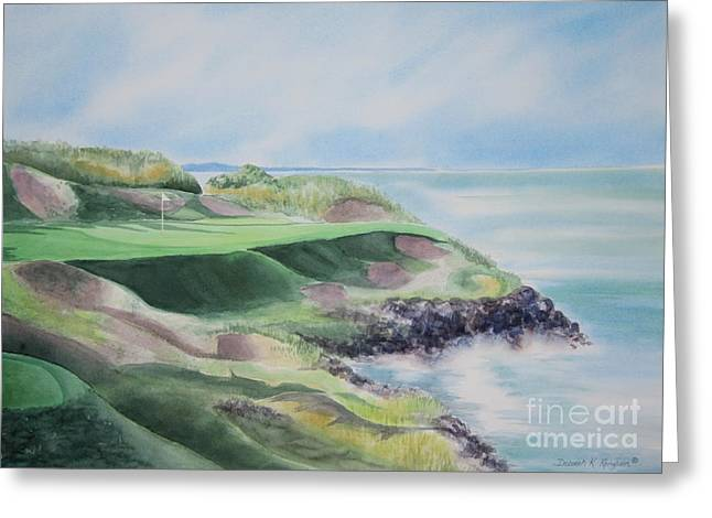 Golf Hole Greeting Cards - Whistling Straits 7th Hole Greeting Card by Deborah Ronglien