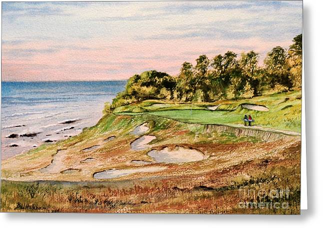 Whistling Straits Golf Course 17Th Hole Greeting Card by Bill Holkham