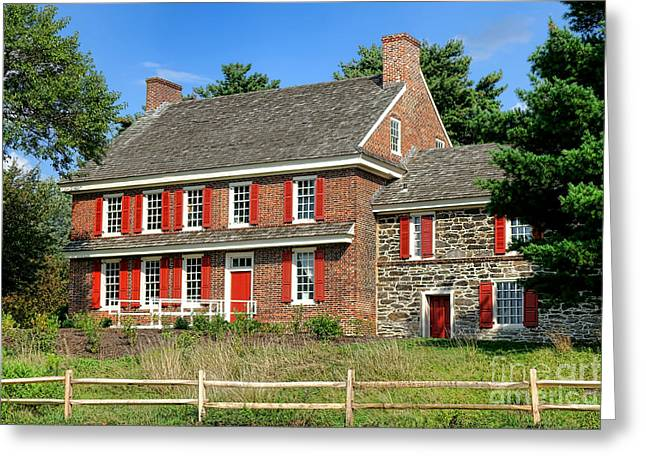 Quaker Greeting Cards - Whitall House Greeting Card by Olivier Le Queinec