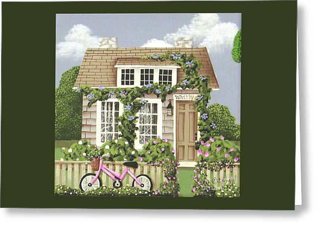 Lace Curtains Greeting Cards - Whitby Cottage Greeting Card by Catherine Holman