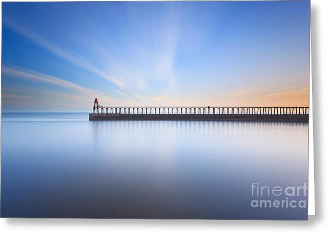 Whitby Greeting Cards - Whitby East Pier long exposure Greeting Card by Richard Thomas