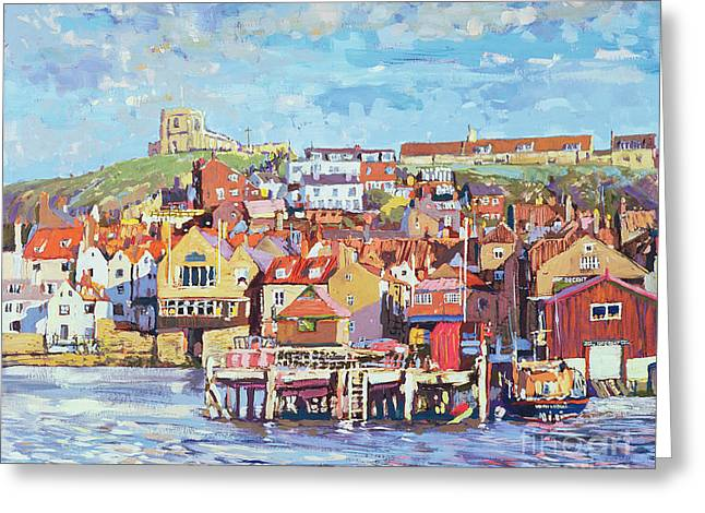 Port Town Greeting Cards - Whitby Greeting Card by Martin Decent