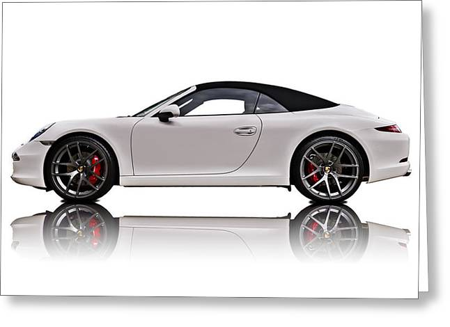 Sportscar Greeting Cards - White 911 Greeting Card by Douglas Pittman