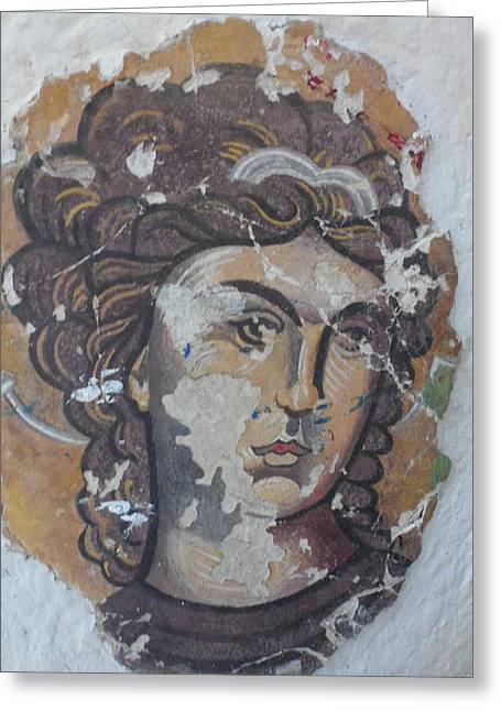 Fresco Reliefs Greeting Cards - White Angel Greeting Card by Antoni Golabovski