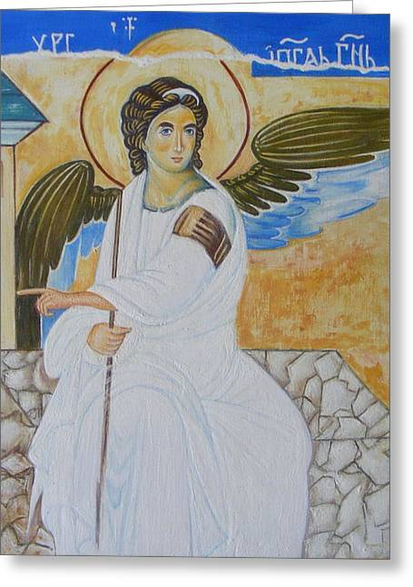 White Angel  Greeting Card by Jovica Kostic