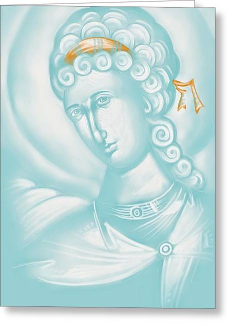 Julia Bridget Hayes Greeting Cards - White Angel Greeting Card by Julia Bridget Hayes