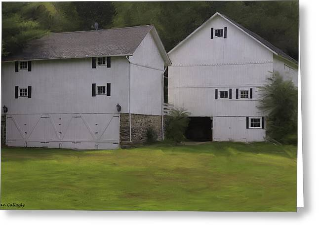 Westport Ct Greeting Cards - White Barns Greeting Card by Fran Gallogly