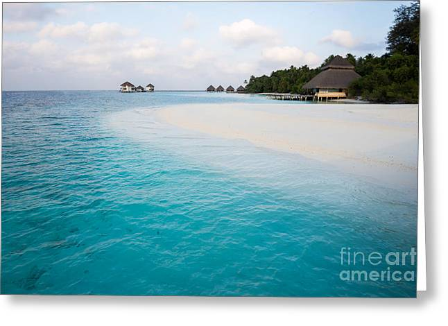 Moon Beach Greeting Cards - White Beach - Turquoise Water4 Greeting Card by Hannes Cmarits