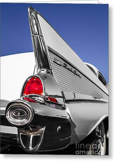 White Belair Greeting Card by Dennis Hedberg