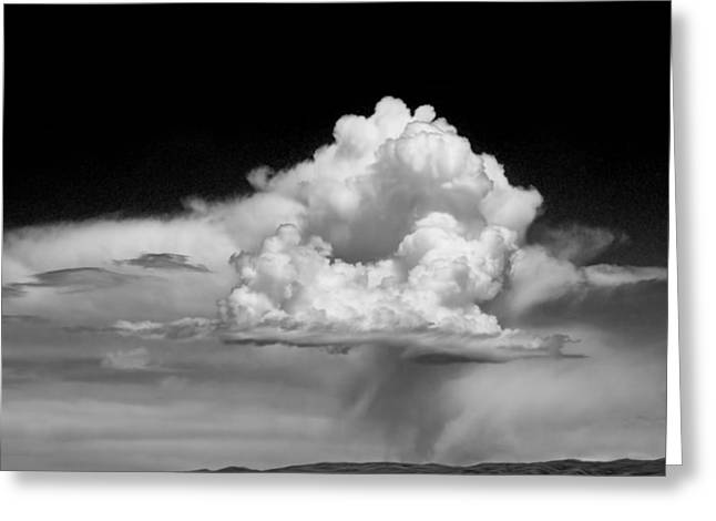 Storm Prints Greeting Cards - White Billowing Cloud Formation in Montana Greeting Card by Randall Nyhof