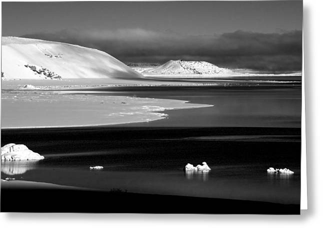 Tufa Greeting Cards - White Black Point Greeting Card by Cat Connor