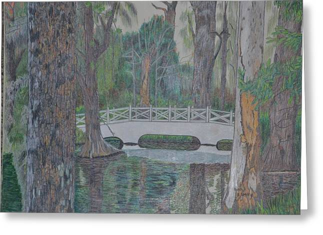 white bridge Greeting Card by Dave Smith