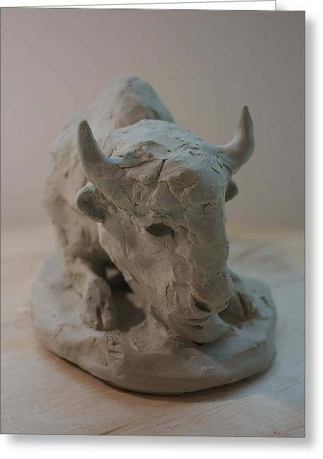 Icon Sculptures Greeting Cards - White Buffalo Greeting Card by Derrick Higgins