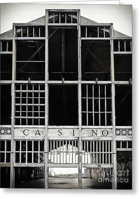 Asbury Park Casino Greeting Cards - White Casino Greeting Card by Colleen Kammerer