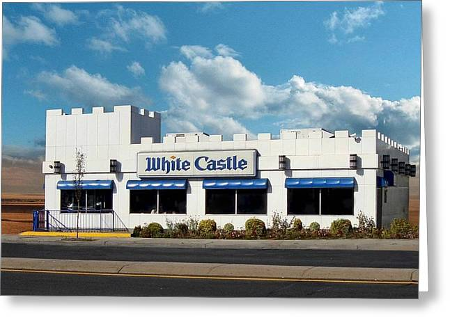 Fast Food Restaurant Greeting Cards - White Castle Greeting Card by Bruce Lennon