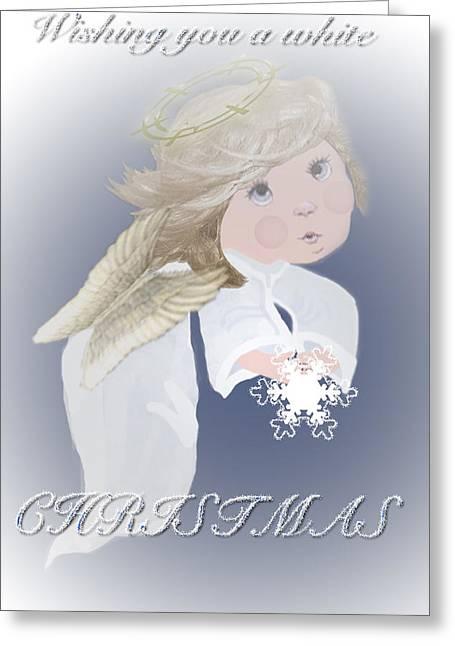 Christmas Art Greeting Cards - White Christmas  Greeting Card by Debra     Vatalaro