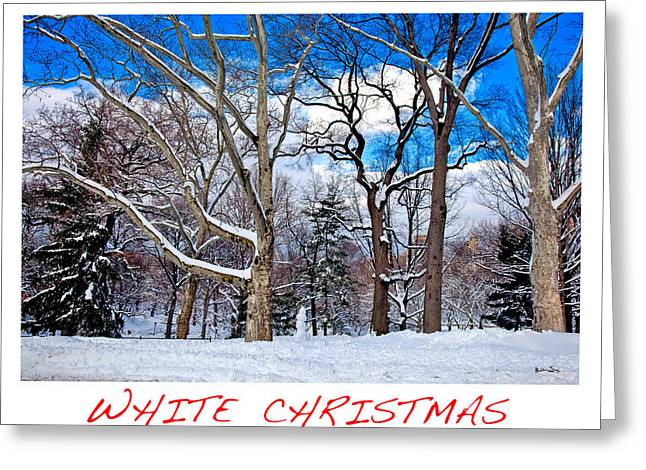 Snowy Day Photographs Greeting Cards - White Christmas Greeting Card by Madeline Ellis
