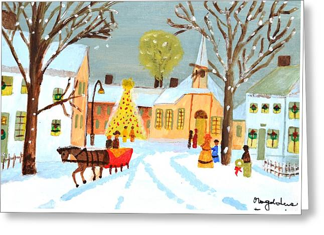 Magdalena Frohnsdorff Greeting Cards - White Christmas Greeting Card by Magdalena Frohnsdorff