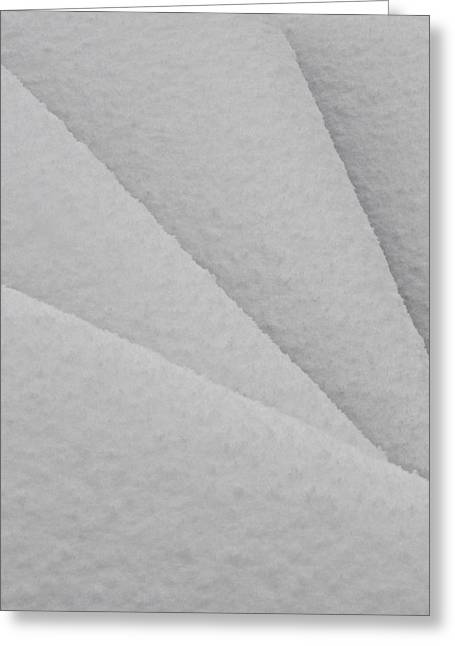 Crisp Greeting Cards - White Christmas Greeting Card by Odd Jeppesen