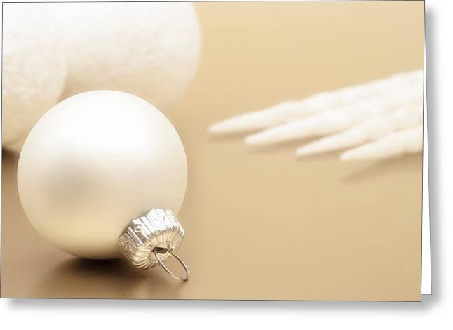 Tabletop Greeting Cards - Have a White Christmas Greeting Card by Wim Lanclus