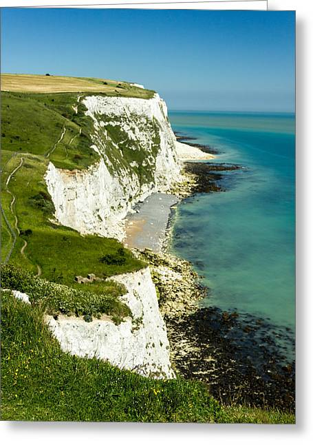 White Photographs Greeting Cards - White Cliffs of Dover.  Greeting Card by Ian Hufton
