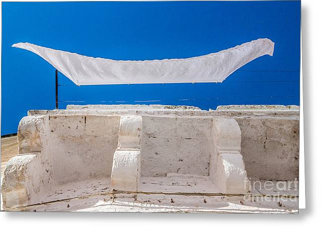 White Cloth Photographs Greeting Cards - White cloth Greeting Card by Sabino Parente