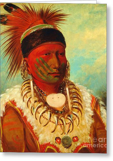 Pd Greeting Cards - White Cloud - Chief of the Iowas Greeting Card by Pg Reproductions
