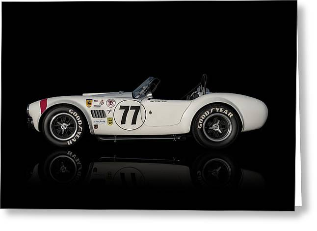 Roadsters Greeting Cards - White Cobra Greeting Card by Douglas Pittman