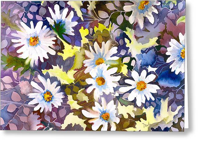 Daisy Greeting Cards - White Daisies Greeting Card by Neela Pushparaj