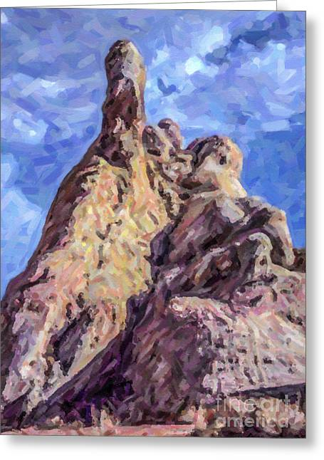 Geology Greeting Cards - White Dome Rock Valley of Fire SP Nevada Greeting Card by Liz Leyden