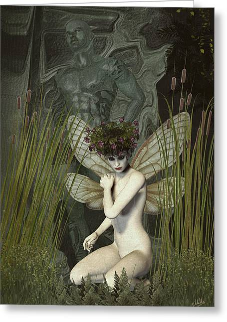 Dryad Greeting Cards - White fairy Greeting Card by Joaquin Abella
