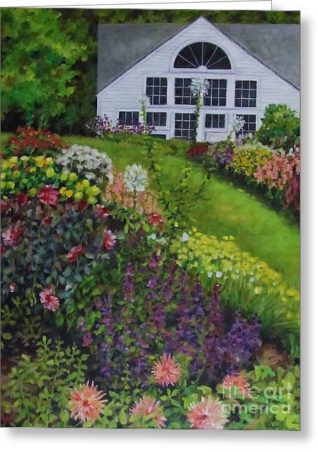 Olson House Greeting Cards - White Flower Farm Greeting Card by Karen Olson